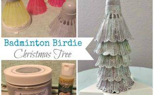 repurposed badminton birdie christmas tree, christmas decorations, crafts, repurposing upcycling, seasonal holiday decor