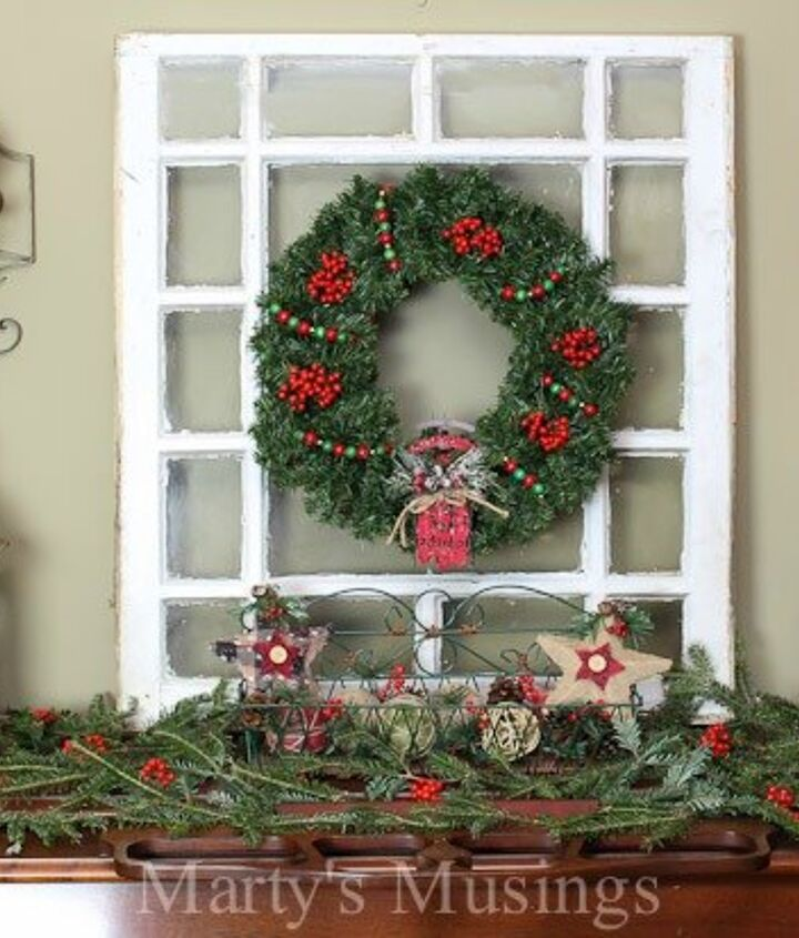 how to decorate a pretend mantel the inexpensive way, christmas decorations, fireplaces mantels, seasonal holiday decor