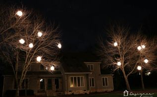 diy lighted christmas balls, christmas decorations, diy, lighting, outdoor living, seasonal holiday decor