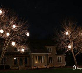 Diy Lighted Christmas Balls, Christmas Decorations, Diy, Lighting, Outdoor  Living, Seasonal