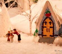 christmas mini village craft family, christmas decorations, crafts, seasonal holiday decor