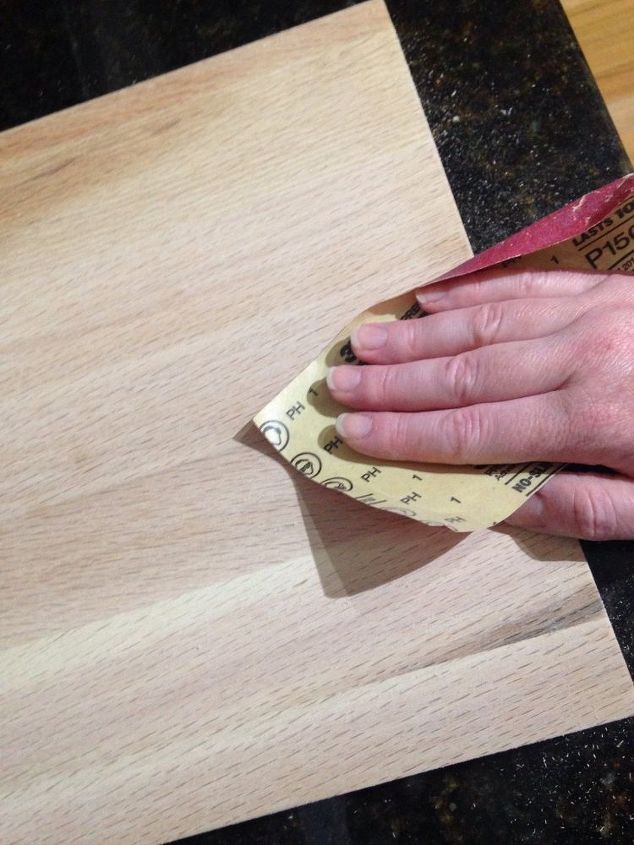Use medium to fine grit sandpaper to smooth.