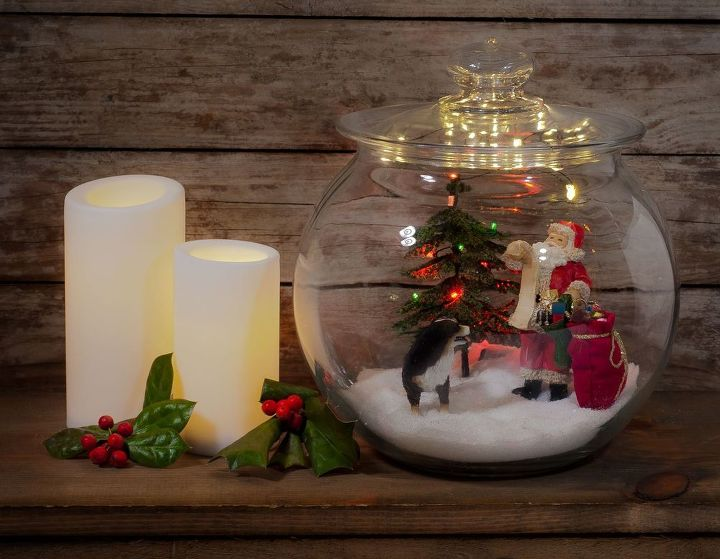 miniature christmas jar scene christmas decorations seasonal holiday decor
