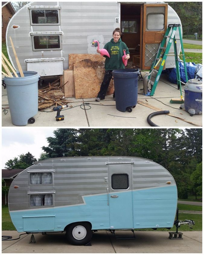 gidget the vintage trailer renovations before and after, diy, home improvement, home maintenance repairs, painting