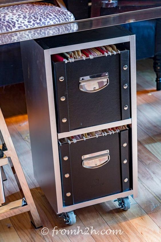 diy glam industrial filing cabinet, diy, home office, organizing, painted furniture, repurposing upcycling, storage ideas