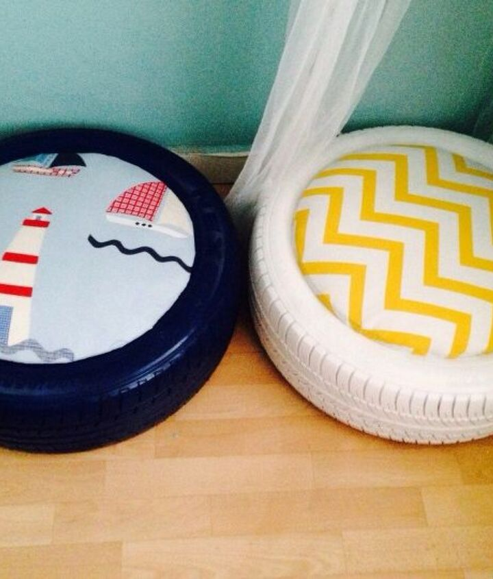 diy tire seating, how to, repurposing upcycling, reupholster