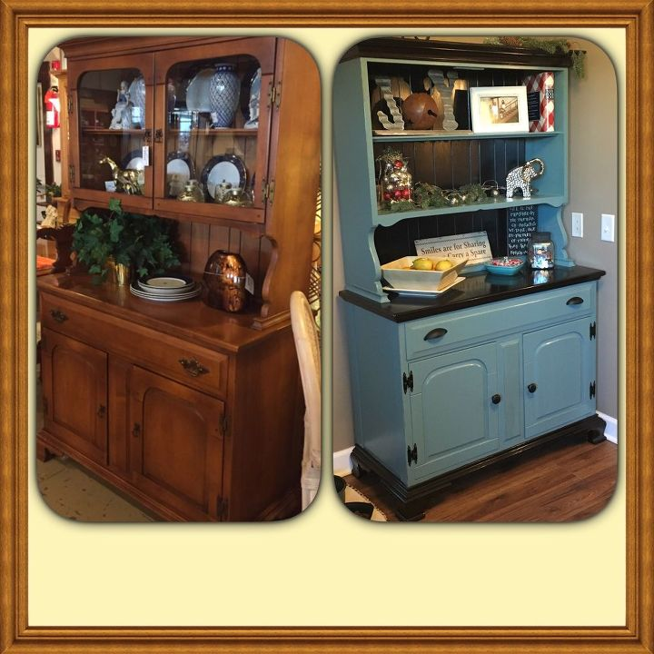 Painted Family Kitchen With Dining Nook: A Hutch For My Nook