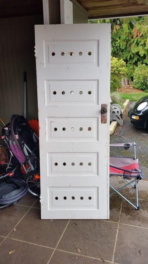 old door becomes a new wine rack repurpose, doors, repurposing upcycling