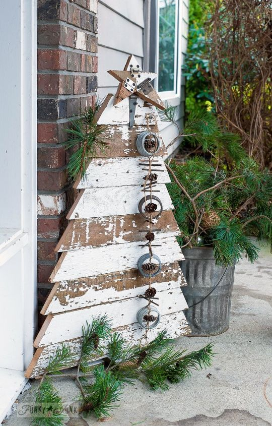 christmas decoration woodworking diy tree porch christmas decorations diy porches woodworking projects - Christmas Fence Decorations