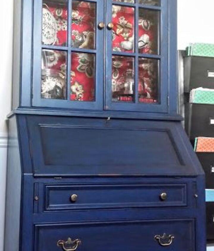 A.S. Napoleonic Blue Chalk Paint & Java Glaze