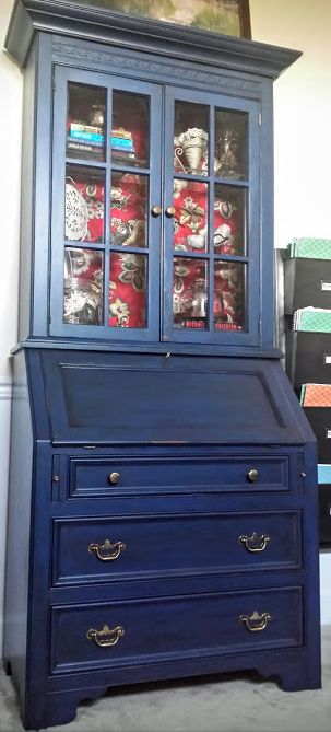 A S Napoleonic Blue Chalk Paint Java Glaze
