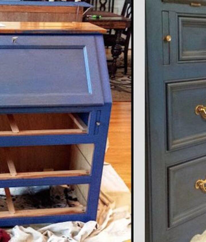 Napoleonic Blue (L), Napoleonic Blue/Glaze (R
