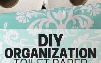 DIY Organization - Toilet Paper Storage
