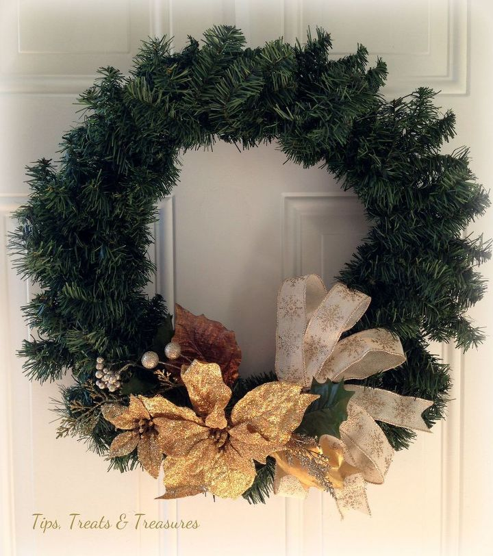 christmas holiday wreath easy diy tutorial do it yourself for less christmas decorations crafts