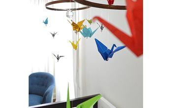 diy birds origami nursery decor, bedroom ideas, crafts