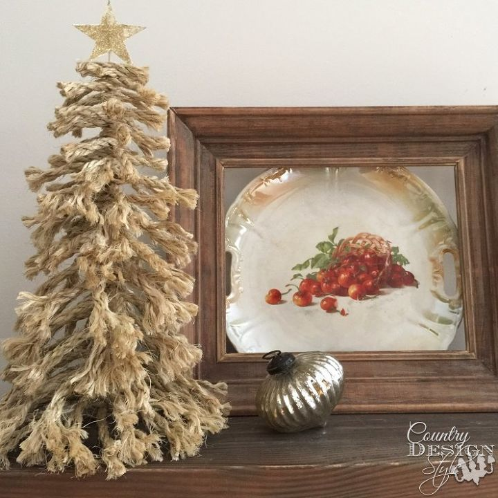 Gather Up Bits And Pieces Of Rope Try This Rope Tree Hometalk - Country Decorated Christmas Trees