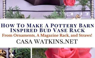 pottery barn inspired bud vase from ornaments magazine rack straws, container gardening, crafts, gardening, how to, repurposing upcycling