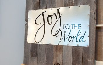 Reclaimed Wood and Steel Decorative Sign