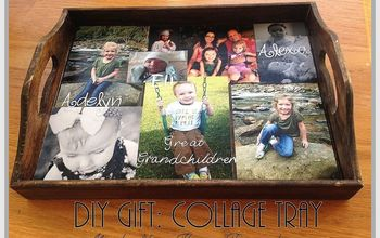 diy gift collage tray, crafts, decoupage
