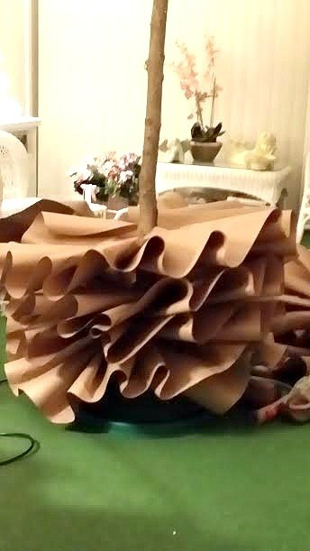 how to make a full size brown paper christmas tree, christmas decorations, crafts, how to, seasonal holiday decor