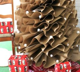How To Make A Full Size Brown Paper Christmas Tree, Christmas Decorations,  Crafts,