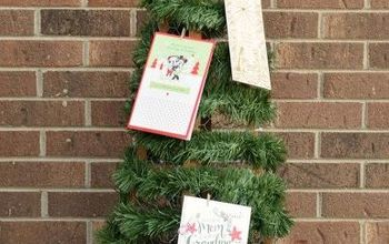 chicken wire christmas card tree, christmas decorations, seasonal holiday decor