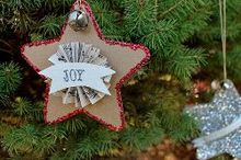 christmas ornaments craftsupcycled cardboard star, christmas decorations, crafts, decoupage, seasonal holiday decor