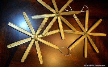 diy spoon handle star ornaments, christmas decorations, crafts, repurposing upcycling, seasonal holiday decor