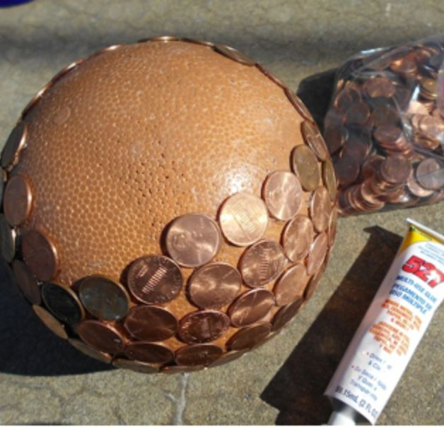 Diy Penny Balls For Your Garden Hometalk