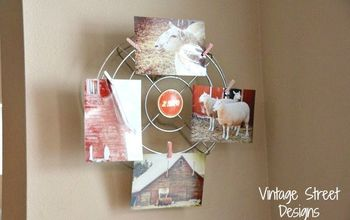 diy country christmas photo wreath, christmas decorations, crafts, seasonal holiday decor, wreaths