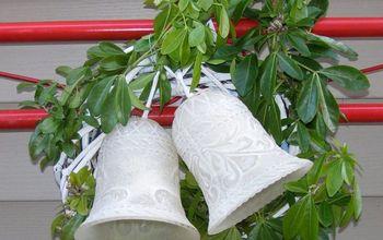 christmas bells, chalk paint, christmas decorations, repurposing upcycling, seasonal holiday decor, wreaths