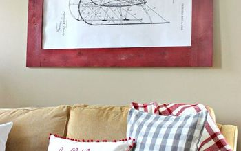 DIY Old Sleigh Patent Wall Art