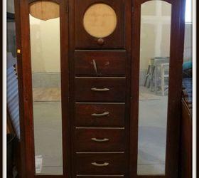 Antique Wardrobe, Closet, Painted Furniture