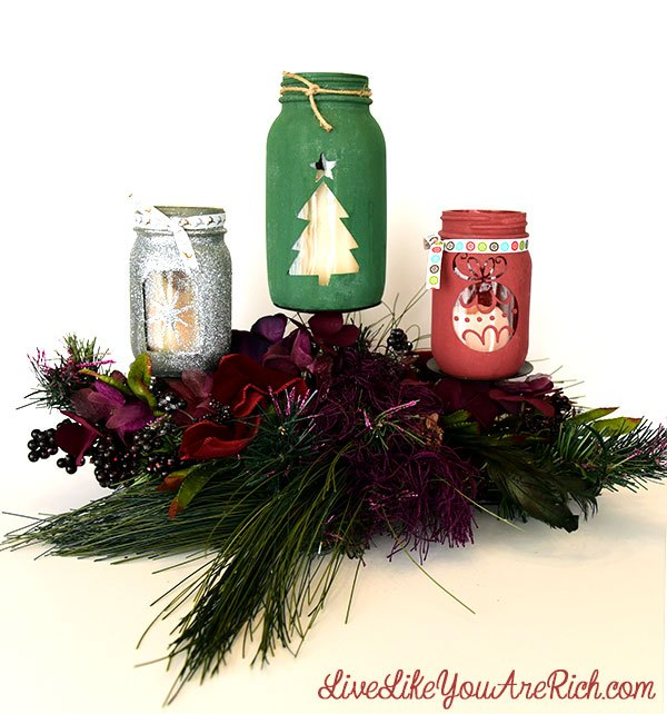 d i y christmas mason jar craft, christmas decorations, crafts, how to, mason jars, seasonal holiday decor