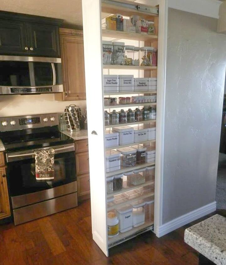 s the 15 most brilliant ideas people came up with in 2015, crafts, diy, home improvement, Pull Out Pantry Cabinet