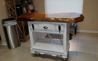 kitchen island at the beach, diy, kitchen island, painted furniture, repurposing upcycling, woodworking projects