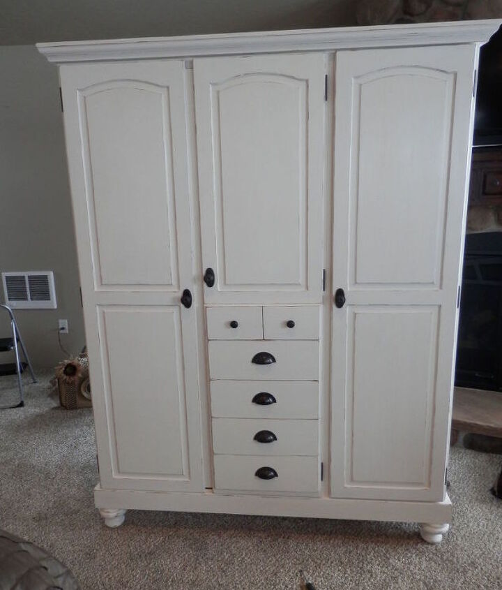 reclaimed pine cabinet into a cleaning station for master suite, chalk paint, organizing, painted furniture, storage ideas, woodworking projects