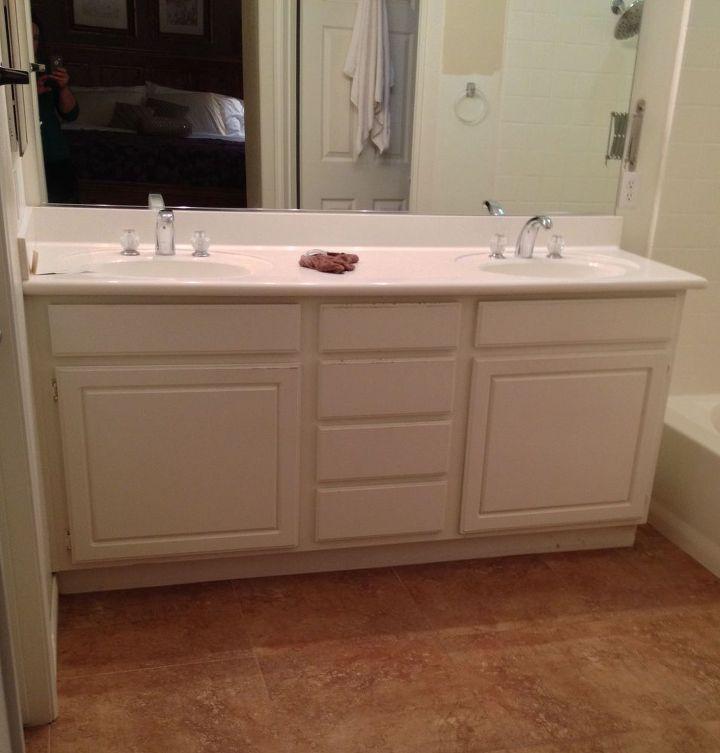 Adding Wood Feet To A Bathroom Vanity Hometalk