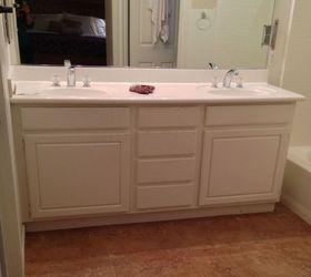 Adding Wood Feet To A Bathroom Vanity, Bathroom Ideas, Repurposing  Upcycling, BEFORE
