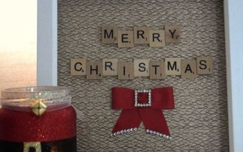 Christmas Scrabble Art Frame - Easy and Fun Project