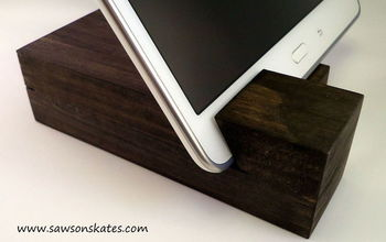 easy scrap wood diy tablet holder, crafts, diy, home decor, woodworking projects