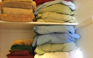 linen closet organization hack, closet, laundry rooms, organizing