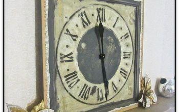 Upcycled Cupboard Door Turned Clock