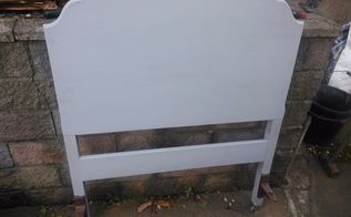before and after victorian bed, painted furniture, Undercoated
