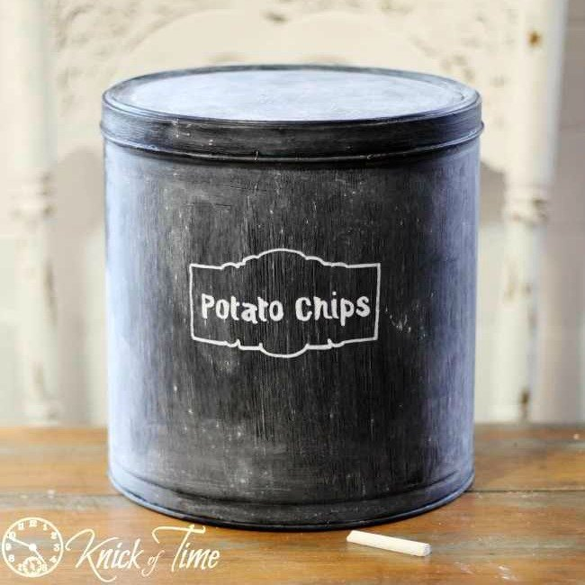 s 8 clever things to do with empty christmas tins, organizing, repurposing upcycling, seasonal holiday decor, storage ideas, Chalkboard Snack Storage
