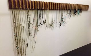 clothespin jewelry hanger, crafts, organizing, repurposing upcycling, storage ideas
