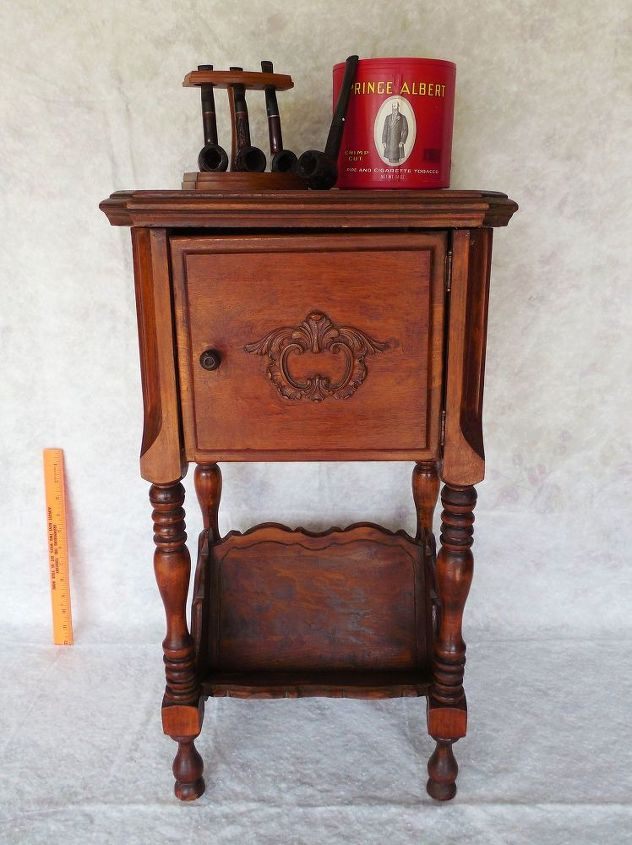 q great grandfathers humidor smoke stand from early 1900 s, furniture id, painted furniture