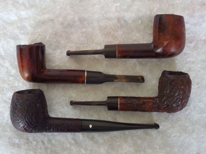 q great grandfathers humidor smoke stand from early 1900 s, furniture id, painted furniture, These pipes came with the stand when I got it They belonged to my Grandfather some to my Great Grandfather I also have a somewhat rusty Prince Albert Tobacco Tin can with lid that was my Great Grandfathers