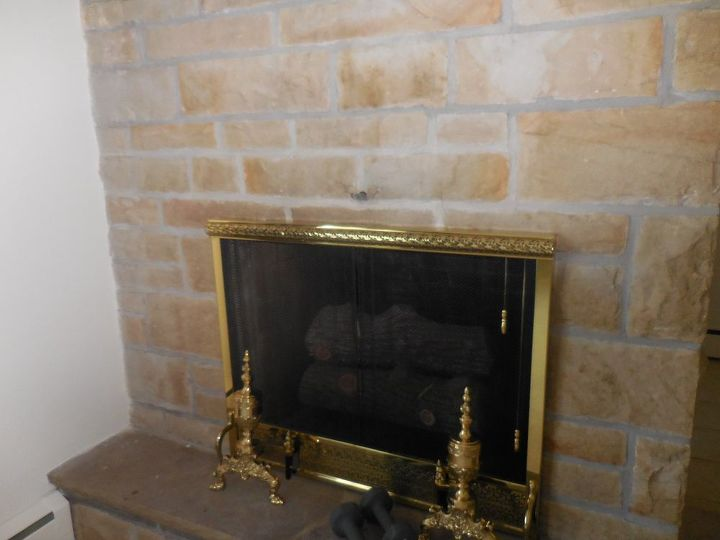 Adding A Mantel To Stone Fireplace Adds Some Real Character Concrete Masonry Fireplaces