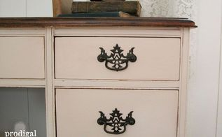 worn out vintage desk gets makeover by teenage boy, painted furniture